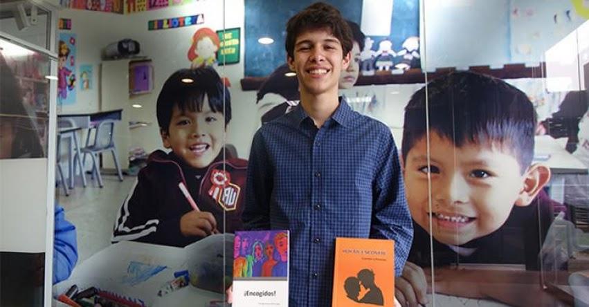 MINEDU: El escritor más joven del país presentó su nueva obra en la Feria del Libro - www.minedu.gob.pe