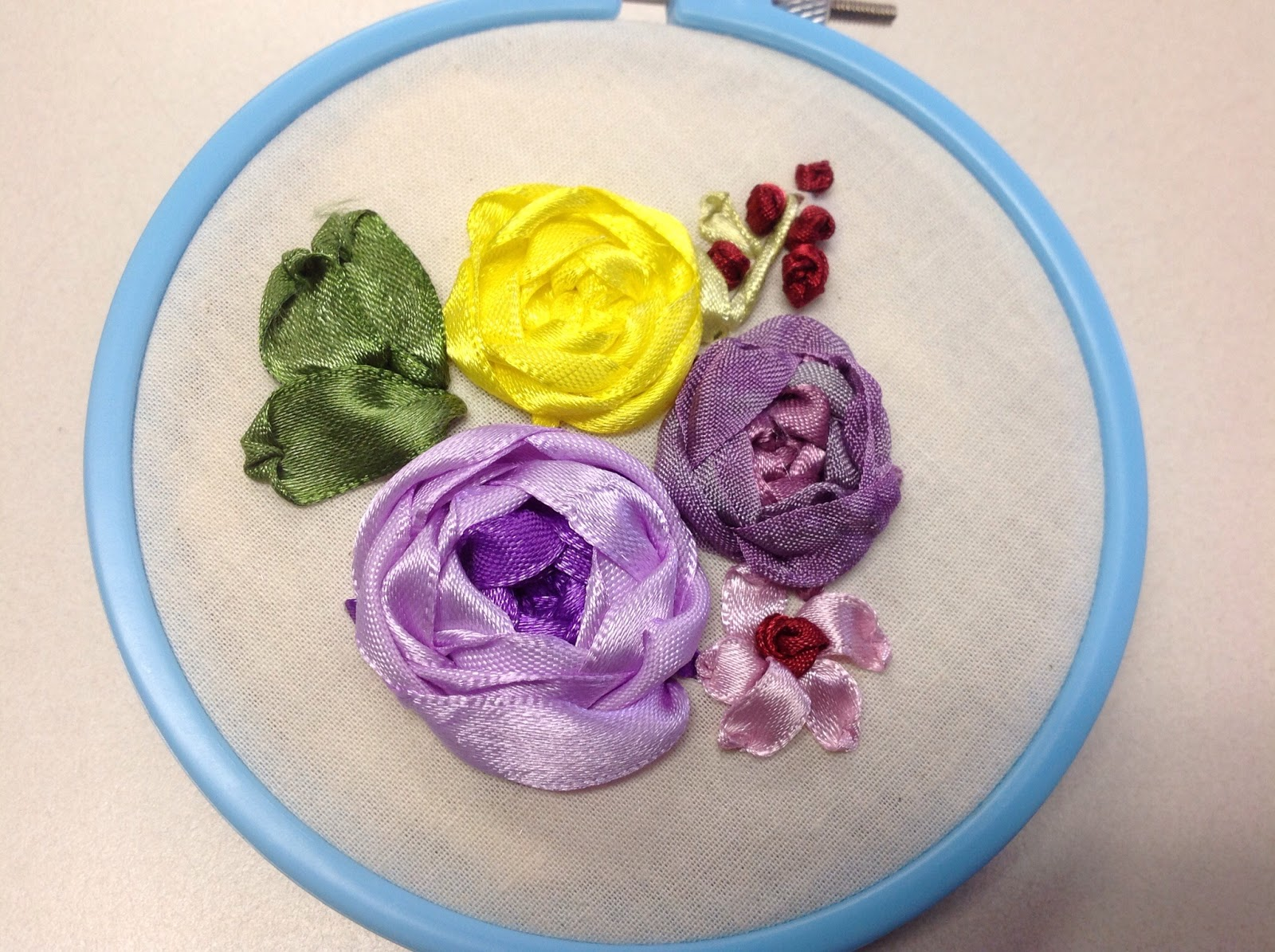 The World In Stitches Silk Ribbon Embroidery Class