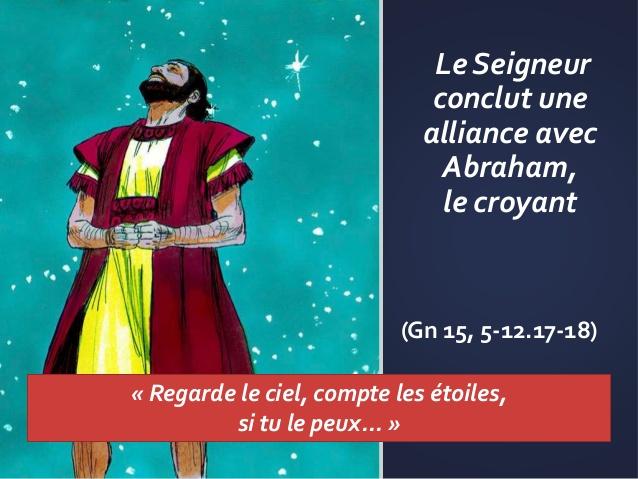 """Diaporama : """"Dieu conclut une alliance avec Abraham"""""""