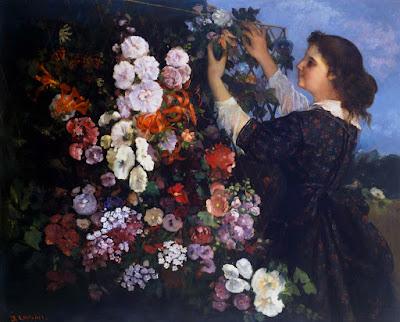 Gustave Courbet - Le treillis,1862.