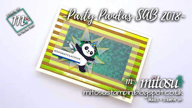 Stampin' Up! Party Pandas SAB 2018 SU Card Idea order from Mitosu Crafts UK Online Shop