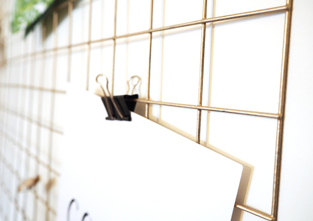 Diy Gold Wire Memo Board How To Made Up Style