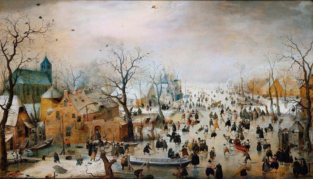 Le Muse  AVERCAMP Hendrick 1585 Amsterdam  1634 Kampen Paesaggio invernale con