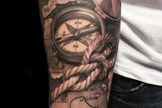 tatuaje rosa de los vientos 6