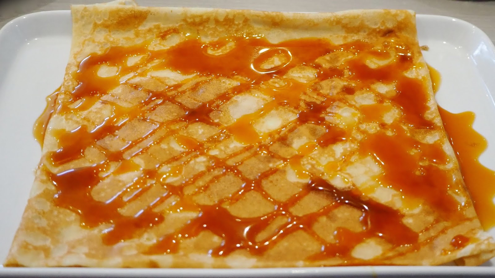 French Style salted caramel crepe
