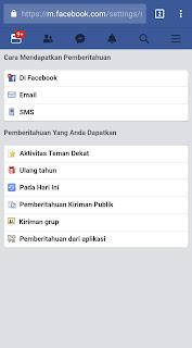 Pengaturan Email Facebook