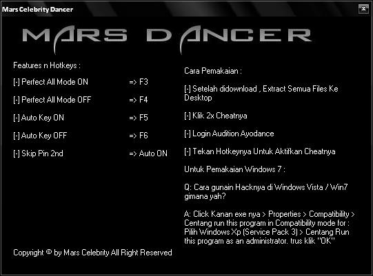 Cheat Audition Perfect On Off Cheats Audition Ayodance Cheat Hacks Mars Celebrity Mars Blog 541x401