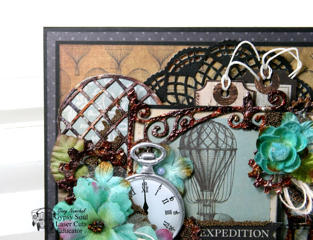 Gypsy Soul Laser Cuts Steampunk Expedition Greeting Card By Ginny