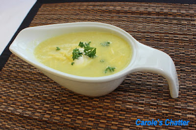 Lightly Curried Cauliflower Soup by Carole's Chatter