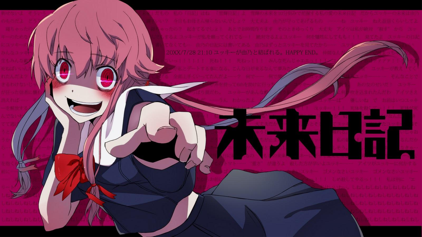 Mirai Nikki Gasai Yuno Yandere Anime Anime Girls: Wallpapers Mirai Nikki Parte 2