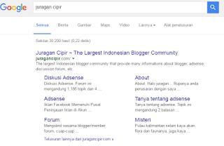 Blog juragan Cipir Telah Pulih Kembali Dari Deindex Google