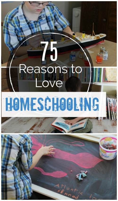 75 Reasons to Love Homeschooling in the dead of winter {and at anytime}