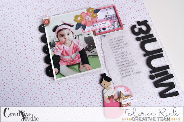 "scrapbook layout | ""minnie"" by kushi per creative Studio www.kkushi.com"