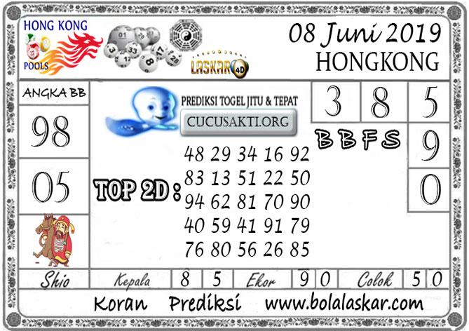 Prediksi Togel HONGKONG LASKAR4D 08 JUNI 2019