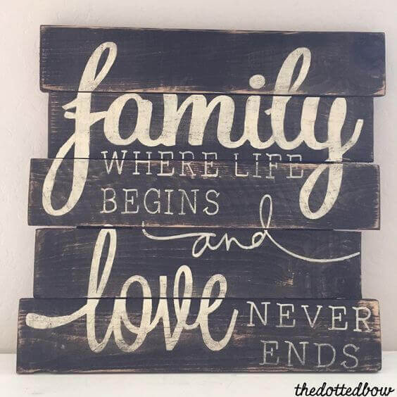 Family where life begins love never ends.