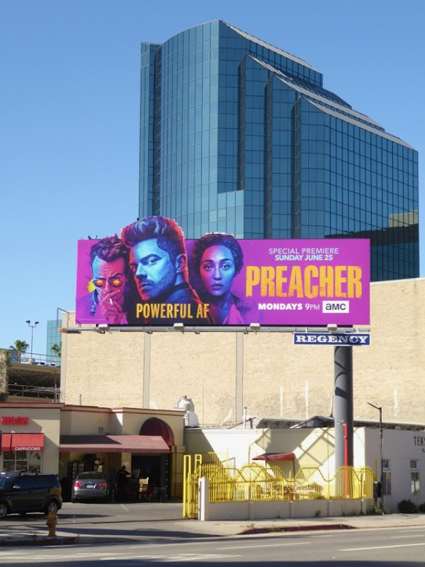 Preacher season 2 cutout billboard