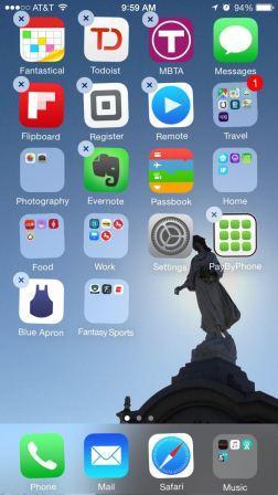 menghapus aplikasi default ios