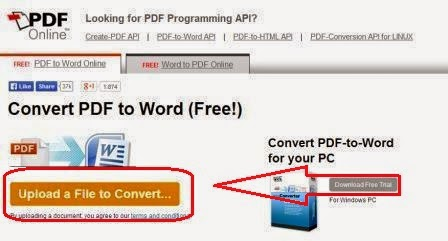 upload a file to convert