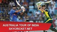 India v Australia ODI Series Live TV Channels