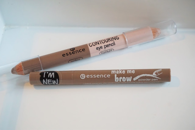 essence contouring eye pencil, essence make me brow powder pen
