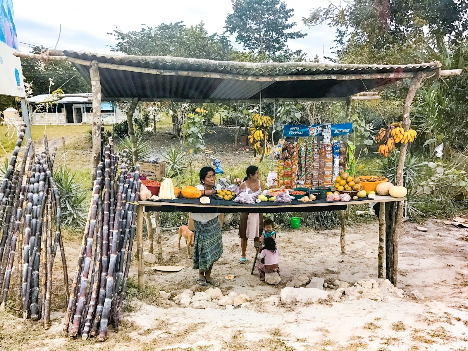 road side stall in guatemala
