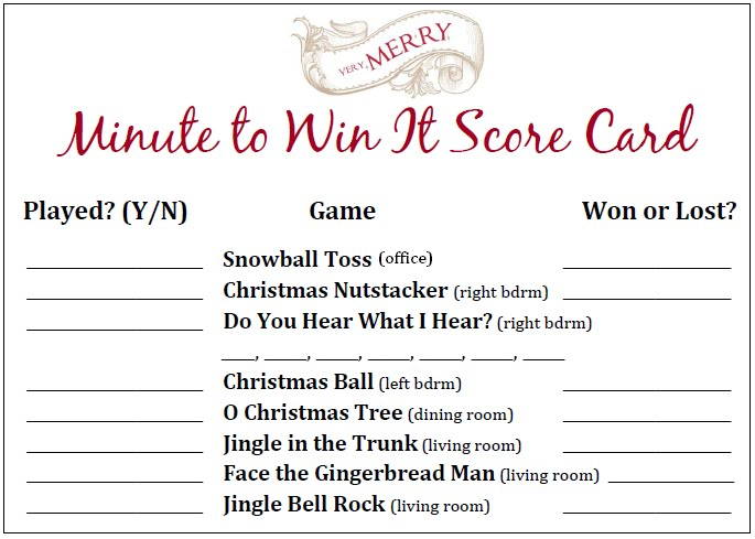Minute To Win It Christmas Party Part 1