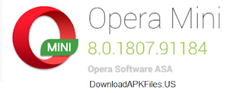 Download Opera Mini v8.0.1807.91184 APK For Android and Tablet