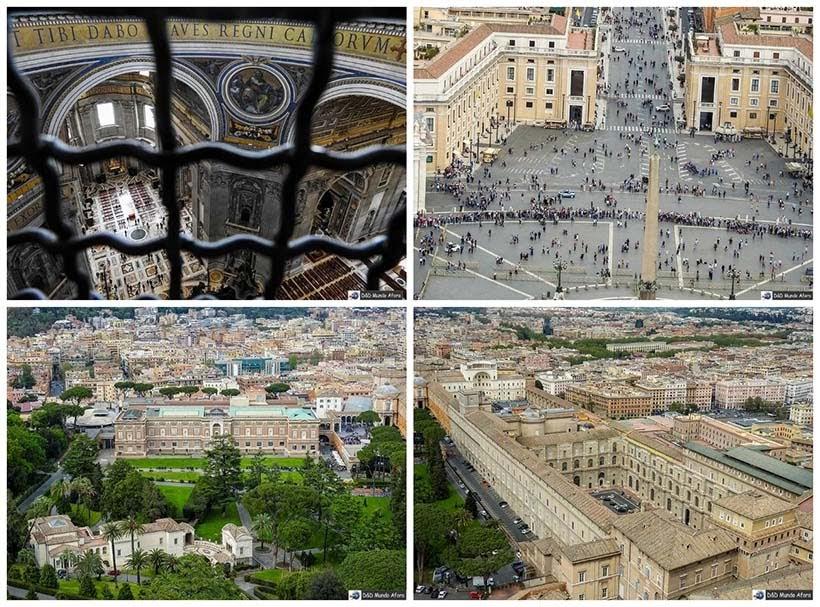 Vista de Roma da cúpula da Basílica São Pedro - Diário de Bordo: 3 dias em Roma