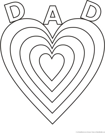 Happy Father's Day Clip Art | Fathers day coloring page, Birthday ... | 443x350