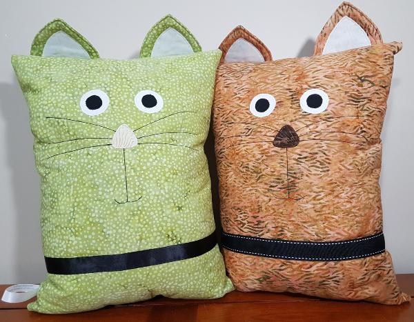 cat pillows | DevotedQuilter.blogspot.com