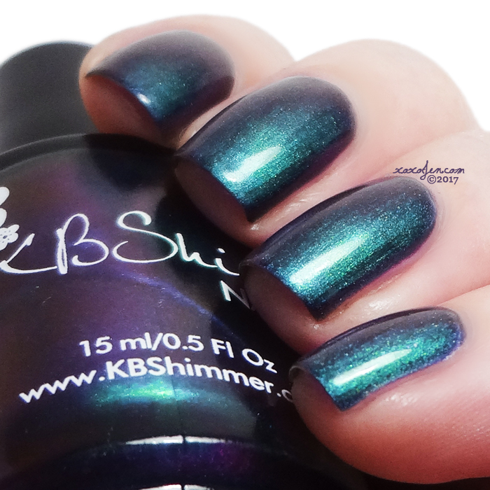 xoxoJen's swatch of KBShimmer Iridescent Exposure