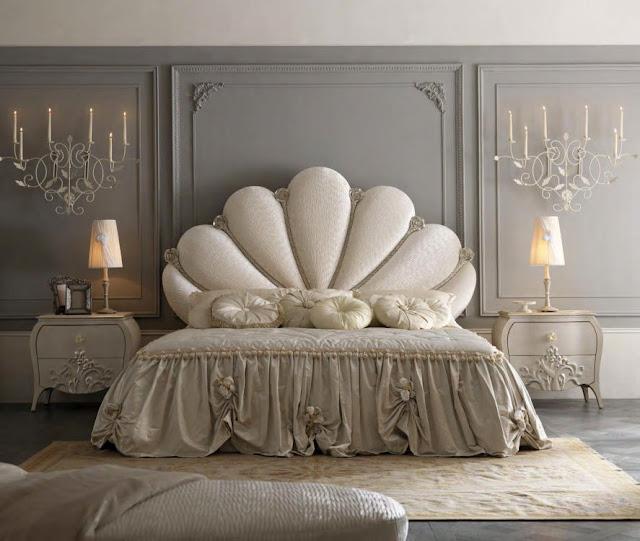 Mobila dormitor italiana - Mobila clasica / Paturi tapitate dormitoare de lux | mobila - dormitor - Italiana - pat - tapitat - finisaje - lemn - de - trandafir