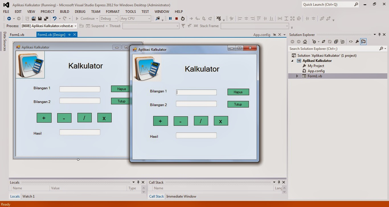 9 - Tutorial Menciptakan Kalkulator Dengan Visual Studio 2012