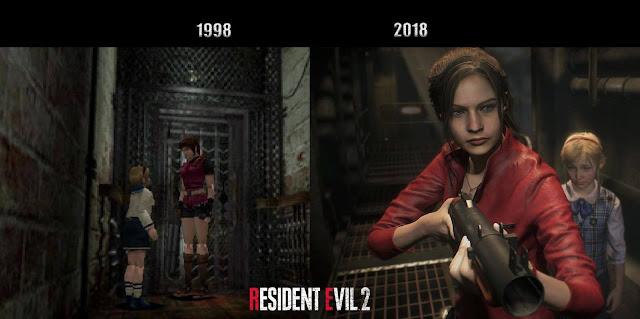 Resident Evil 2 - immagine comparativa 1998-2018