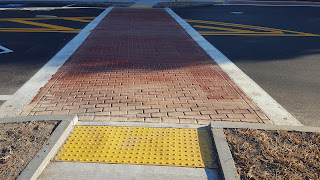 polymer crosswalk in place