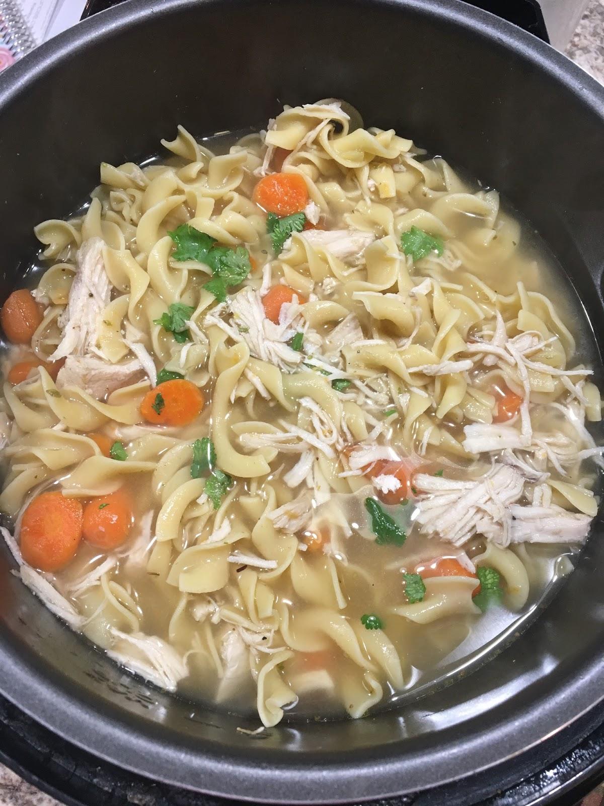 Chasing Saturdays Instant Pot Chicken Noodle Soup
