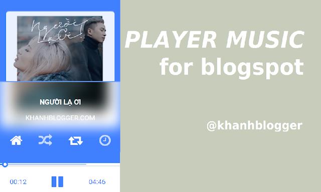 máy nghe nhạc cho blogspot