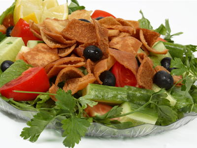 Try this tasty adaptation of the traditional Middle Eastern Fattoush Tuna Fattoush Salad Recipe