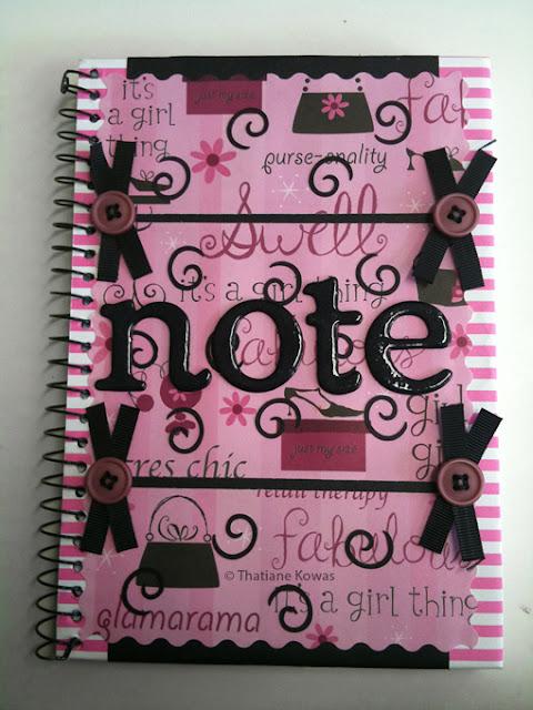capa de caderno costumizada scrapbook