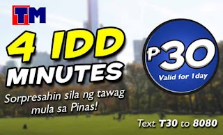TM TipiDD 30 - International IDD Minutes Call Promo for 30 Pesos
