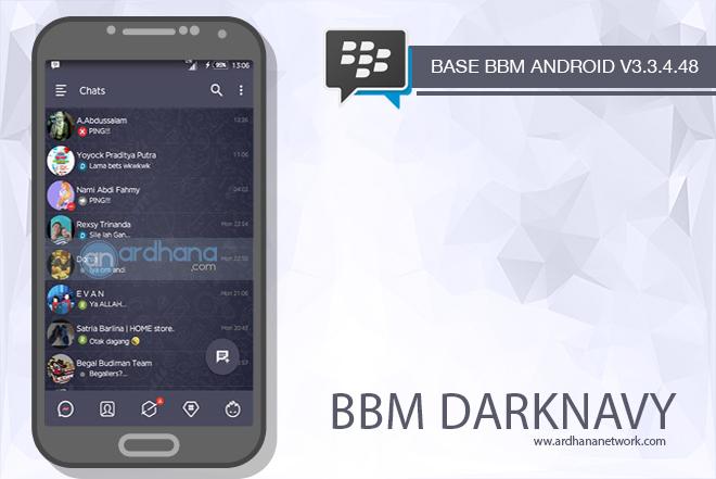 BBM DarkNavy V3.3.4.48 - BBM MOD Android V3.3.4.48