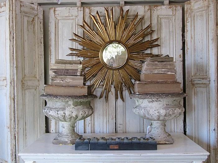 Garden Urn Interior Design Sunburst Mirror French
