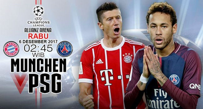 live streaming bayern munchen vs psg