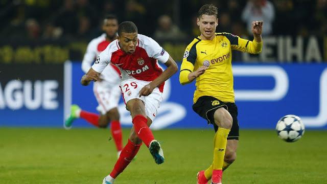 Sengit, Monaco Tundukkan Dortmund 3-2 di Signal Iduna Park