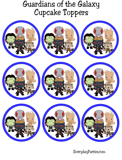 Guardians of the Galaxy Cupcake Toppers