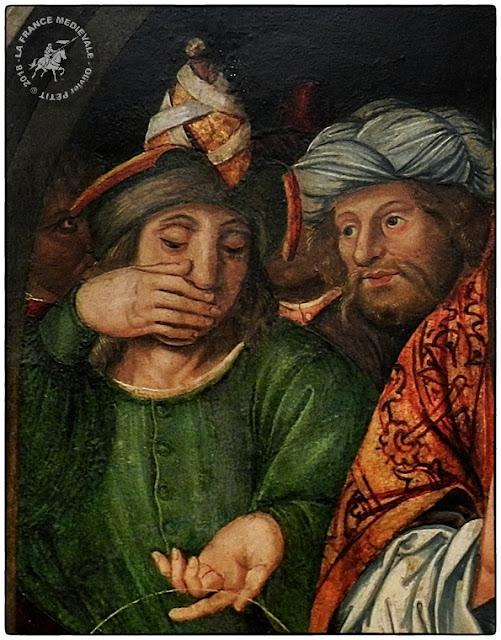 """PONT-SAINT-ESPRIT (30) - Peinture """"Joachim chassé du Temple"""" (XVe siècle)"""