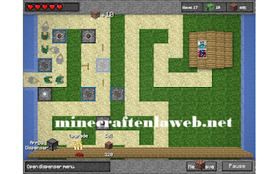 Minecraft Tower Defence - Defensa de Steve (minijuego)