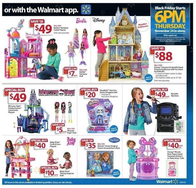 Walmart Black Friday Ad Kids Disney Princess Doll Games