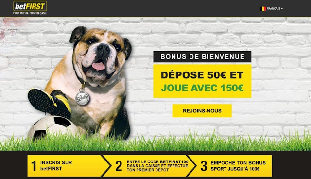 BETFIRST INSCRIPTION CODE PROMO BONUS 100 EUROS OFFERTS