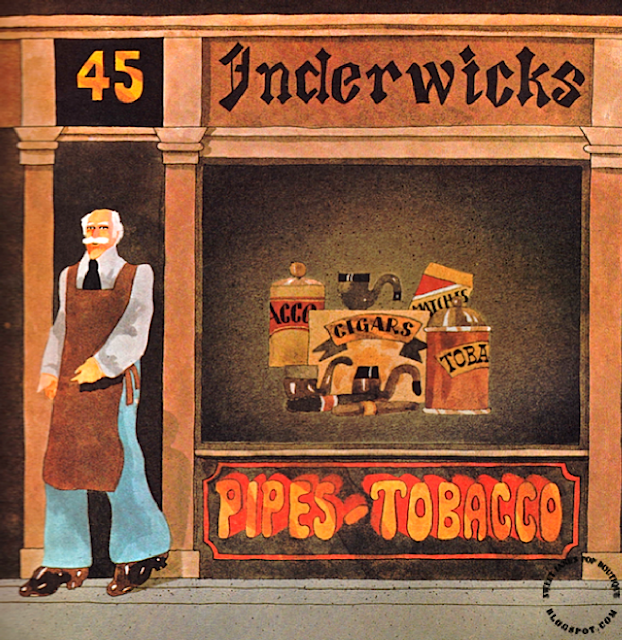 Inderwicks, Pipe & Tobacco Specialist  45 Carnaby St London 1960s